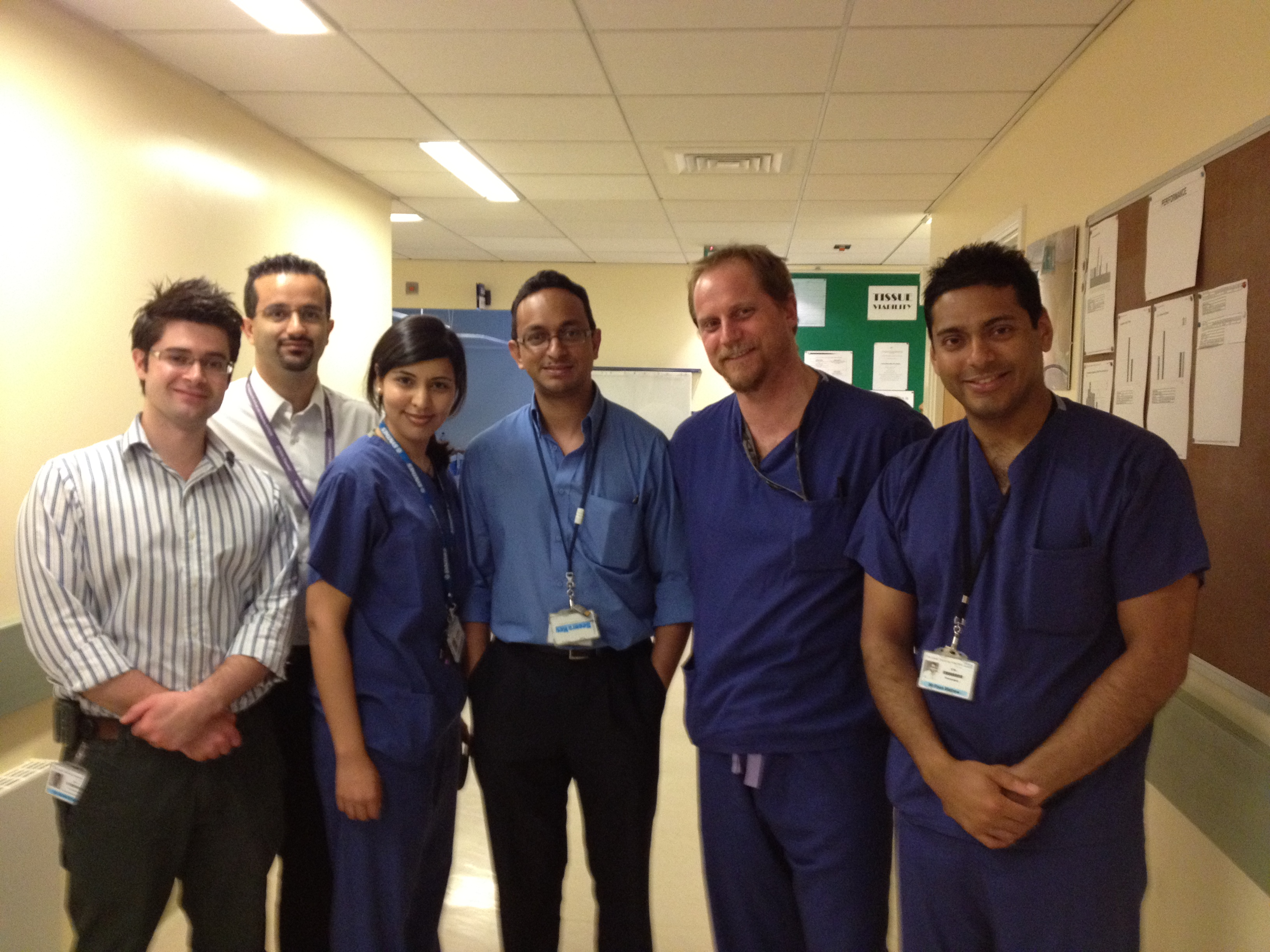 Neurosurgical Registrars (Photo provided by Miss Maleeha Ahmad)